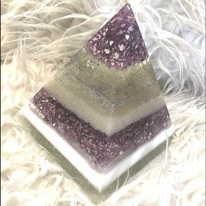 Lavender Resin Pyramid